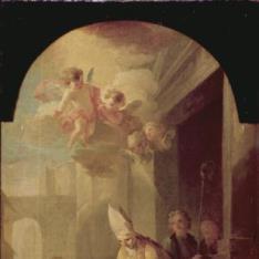 Santo Tomás de Villanueva dando limosna