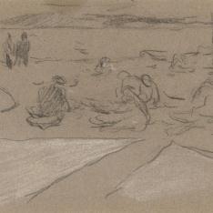 Pescadoras en la playa, Jávea