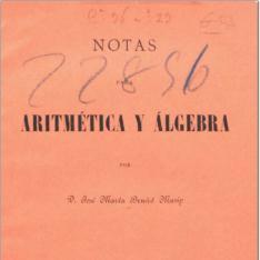 Notas para aritmética y álgebra