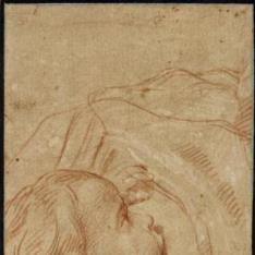 Cabeza de niño mamando