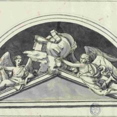 Luneto con dos ángeles
