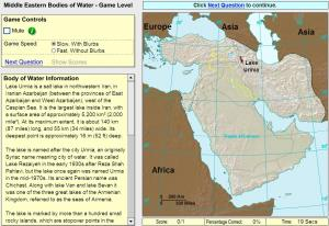 Oceans of Middle East. Game. Sheppard Software