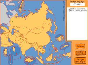Capitales de países de Asia. Dibujos para pintar