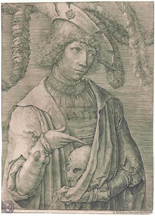 Retrato de joven con calavera