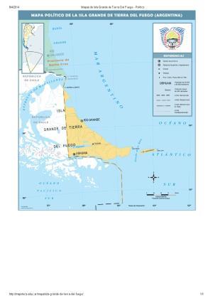 Mapa de capitales de Isla Grande de Tierra del Fuego. Mapoteca de Educ.ar