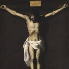 Cristo crucificado con donante