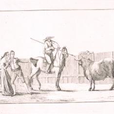 Citando al toro en el tercio de varas