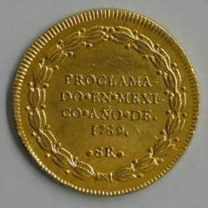 Medalla de proclamación de Carlos IV en México