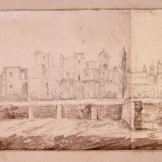 Vista del Palacio Real de Olite, Navarra