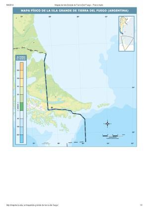 Mapa mudo de ríos de Isla Grande de Tierra del Fuego. Mapoteca de Educ.ar
