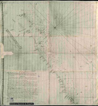 Mapa Hydrográfica de la Costa del Puerto de Veracruz