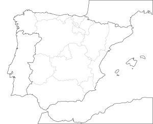 Mapa España Comunidades Autonomas Png.Mapa Para Jugar Donde Esta Comunidades Autonomas De