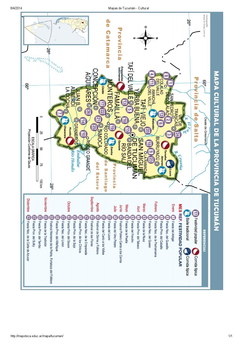 Mapa cultural de Tucumán. Mapoteca de Educ.ar