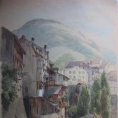 Vista de una localidad alpina