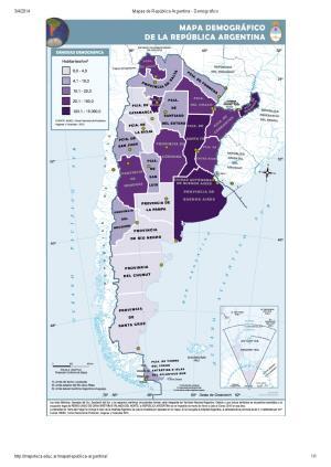 Mapa demográfico de Argentina. Mapoteca de Educ.ar