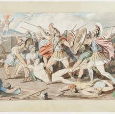 La disputa de griegos y troyanos por el cuerpo de Patroclo