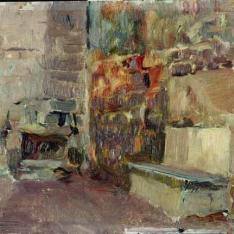 Interior de un patio - Torreón del Roncal