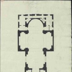 Planta de iglesia de cúpula oval
