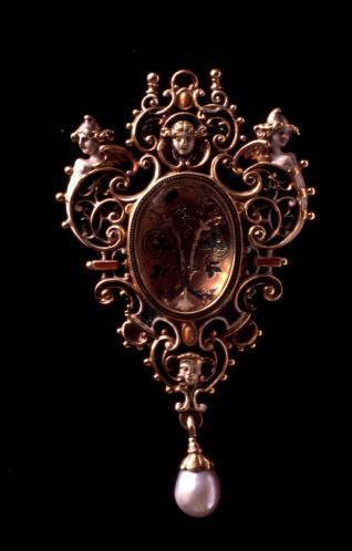 Medallón devocional con Cristo a la columna