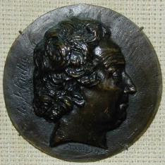 Medallón con el retrato de Pierre Augustin Hulin