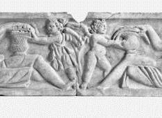 Tapa de sarcófago romano. Verano y Otoño