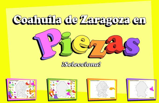 Municipios de Coahuila de Zaragoza. Puzzle. INEGI de México