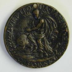 Medalla de Filippo Maserano, poeta veneciano