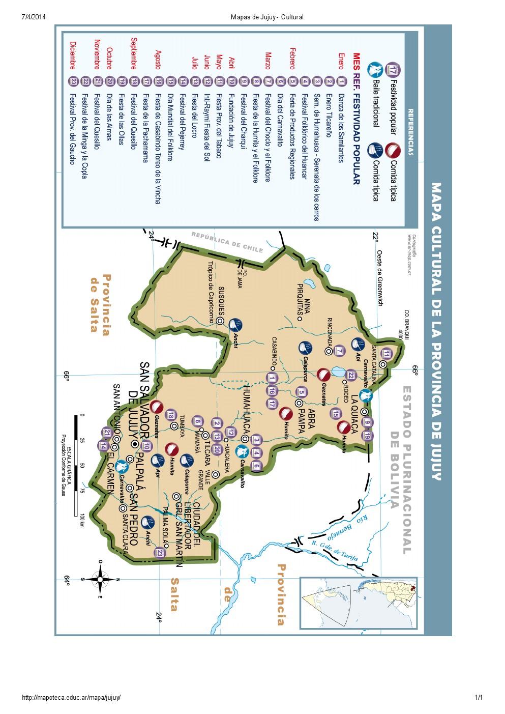 Mapa cultural de Jujuy. Mapoteca de Educ.ar