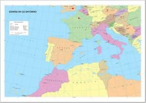 Mapa de ríos de España. IGN