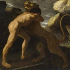 Lucha de Hércules con el león de Nemea