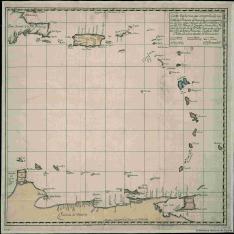 Carta Espherica, que comprehende las Costas de la Provincia de Venezuela