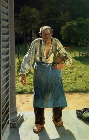 El viejo jardinero (Emile Claus)