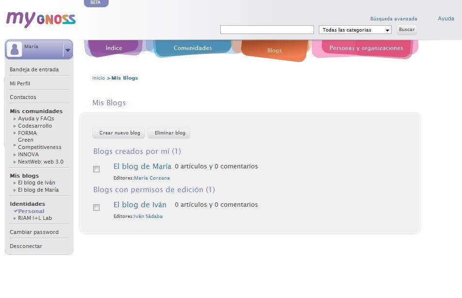 ¿Cómo gestiono mis blogs en gnoss.com?