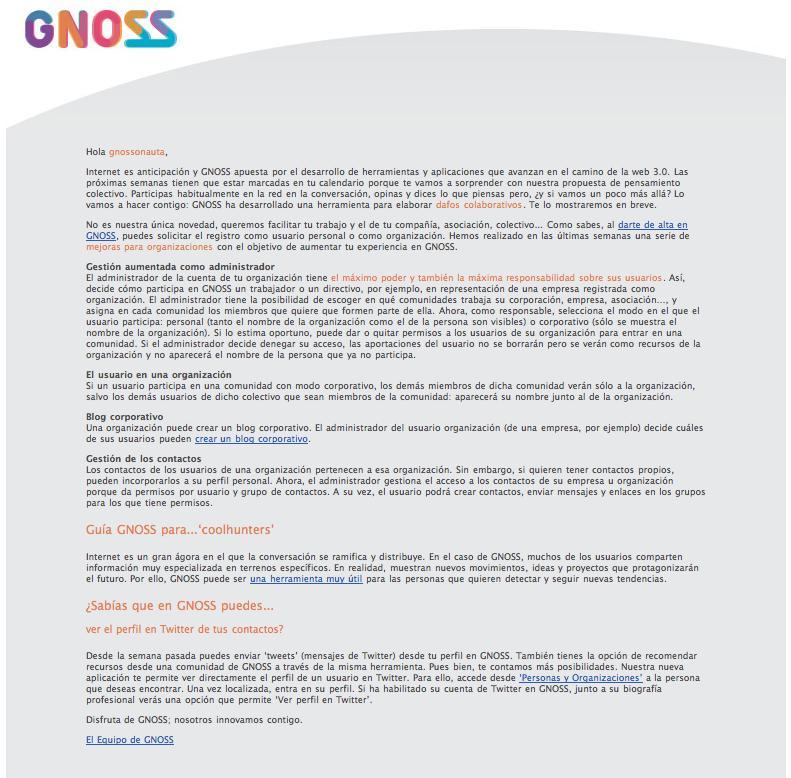 20091106 newsletter ES