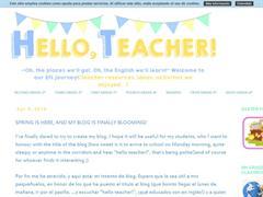 Hello, teacher!