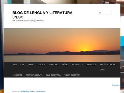 Blog de Lengua y Literatura 3º ESO IES Corona de Aragón (Zaragoza)