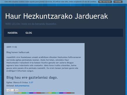 HAUR HEZKUNTZARAKO JARDUERAK