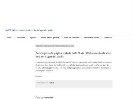 Bloc de l'AMPA INS Leonardo da Vinci. Sant Cugat del Vallès