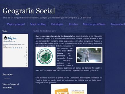 Geografía Social