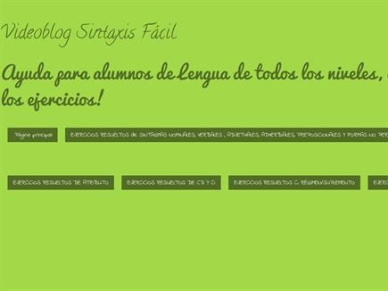 Videoblog Sintaxis Fácil