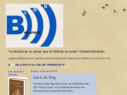 Blog de la Biblioteca IES Parque Goya