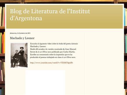 Blog de Literatura de l'institut d'Argentona