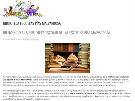 BIBLIOTECA ESCUELAS PIAS MALVARROSA(TODA LECTURA ES UNA AVENTURA)