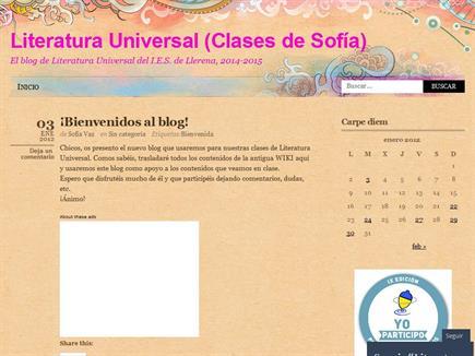 Literatura Universal (Clases de Sofía)