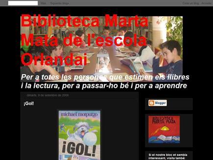 Biblioteca Marta Mata de l'escola Orlandai