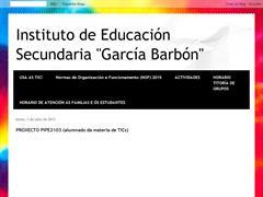 I.E.S. GARCÍA BARBÓN