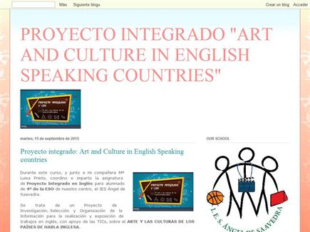 "Proyecto integrado ""Art and Culture in English speaking countries"""