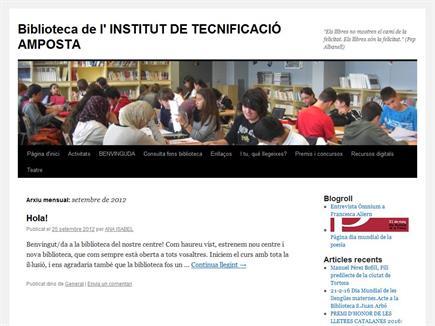 Biblioteca de l'Institut de Tecnificació  Amposta