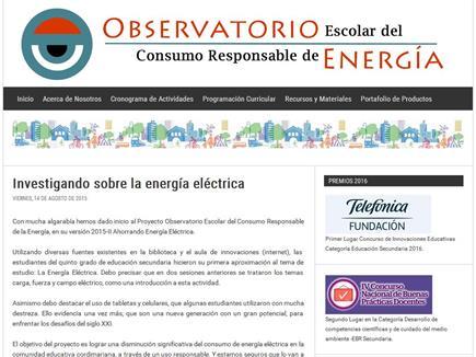 Observatorio Escolar del Consumo Responsable de Energía