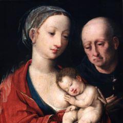 La Virgen con el Niño y San José